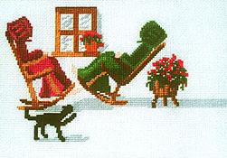 Hello Mr. Snowman Quilt - applique pattern by Diane Graebner